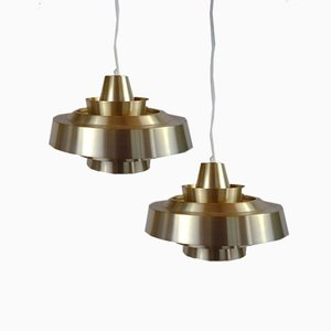 Danish Nova Ceiling Lamps by Johannes Hammerborg for Fog & Mørup, 1960s, Set of 2