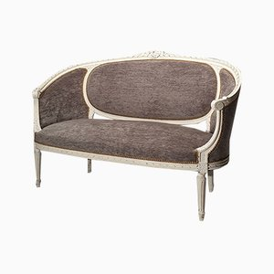 Antique Louis XVI Style Wooden Sofa, 1800s