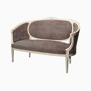 Sofá estilo Louis XVI antiguo de madera, década de 1800