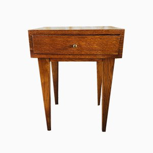 Mid-Century Nightstand with Compass Legs, 1950s