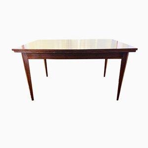 Mesa de comedor extensible Mid-Century vintage grande de palisandro, años 60