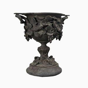 Tazza di servizio antica in bronzo, XVIII secolo