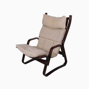 Deutscher Sessel mit Jute Bezug, 1960er