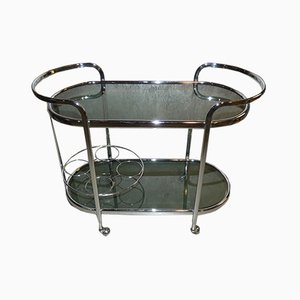 Italian Chromed Metal Trolley, 1970s