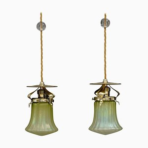 Antike Deckenlampe im Jugendstil, 1908