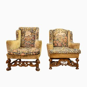 English Armchairs, Set of 2