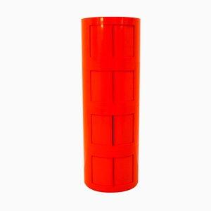 Orangefarbener Depositato Kunststoff Schrank von Giorgina Castiglioni für Bilumen