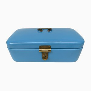 Antique Art Nouveau Light Blue Lunchbox from VEWAG Eschebach