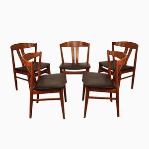 Skandinavische Esszimmerstühle von Carl Ewent Ekstrom für Vjele Stole, 1960er, 5er Set