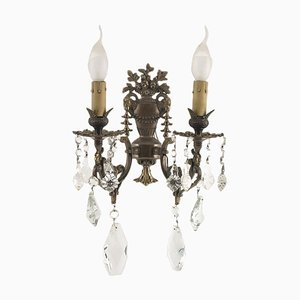 Antique Neoclassical Bronze and Gold Sconces, Set of 2