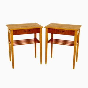Swedish Teak Nightstands, 1960s, Set of 2