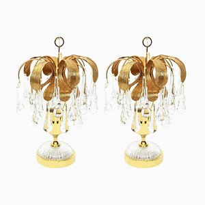 Murano Glass Tear Drop Table Lamps from Palwa, Germany, 1960s, Set of 2