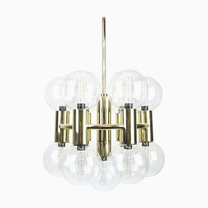 Brass Chandelier by Motoko Ishii for Staff, 1970s