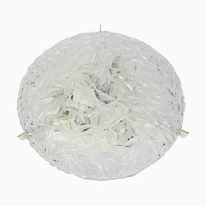 Large Round Ice Glass Ceiling Lamp from Kaiser Idell / Kaiser Leuchten, 1970s