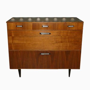 Walnut Chest of Drawers or Shoe Cabinet, 1960s
