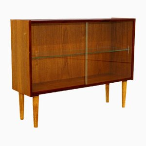 Swedish Teak Sideboard Showcase, 1960s