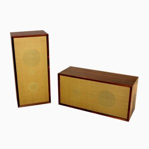 Danish Rosewood Speakers from Cavodius, 1960s, Set of 2