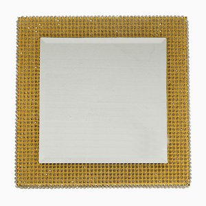 Brass Backlit Wall Mirror from Palwa, 1960s