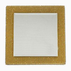 Specchio da parete retroilluminato in ottone di Palwa, anni '60