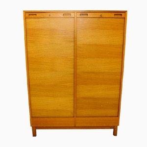 Swedish Oak Notary Cabinet, 1960s