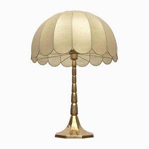 German Mid-Century Brass Cocoon Table Lamp from Goldkant Leuchten, Wuppertal