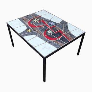 Table Basse en Céramique par Paul Vermeire pour Perignem, 1960s