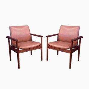 Chaises Modèle 209 par Finn Juhl pour Cado, 1960s, Set de 6