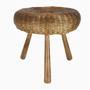Wicker Side Table, 1960s