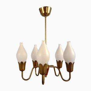 Dänische Tulip Lampe mit 5 Armen von Fog & Mørup, 1950er