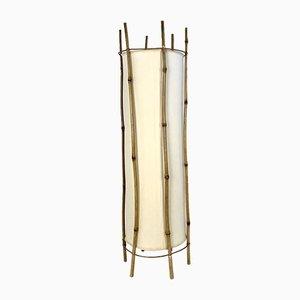 Lampada da terra in bambù di Louis Sognot, Francia, anni '50