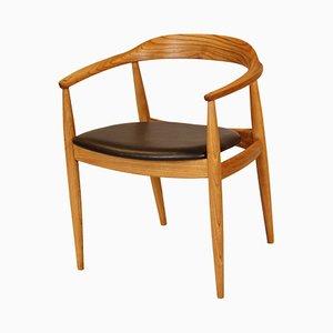Armlehnstuhl aus Ulmenholz von Illum Wikkelso für N. Eilersen