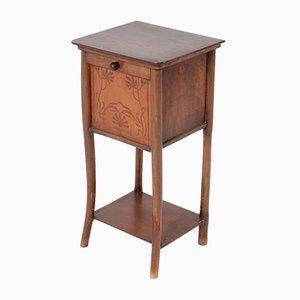 Comodino Art Nouveau in faggio e legno curvato di Jacob & Josef Kohn