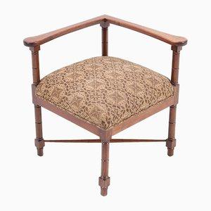 Art Nouveau Mahogany Corner Chair by Jac. van den Bosch, 1900s