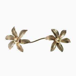 Aplique en forma de flor de Massive, años 70