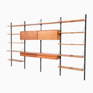 Shelves by Poul Cadovius for Royal, 1950s, Set of 21
