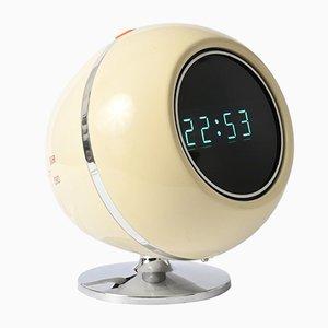 Horloge Réveil Space Age Modèle D-50 F de Maruman, 1970s