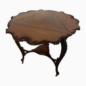 Antique Edwardian Triangle Drop Leaf Folding Occasional Table