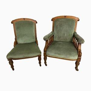 Viktorianische Beistellstühle, 2er Set