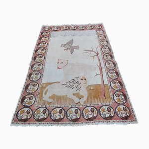 Pictorial Lion Turkish Rug