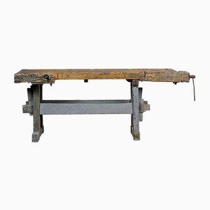 Banco da lavoro da falegname antico in quercia, 1910