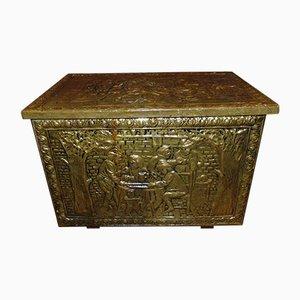 Vintage Messing Box, 1950er