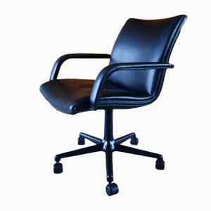 Black Leather Desk Chair by Geoffrey Harcourt for Artifort, 1980s