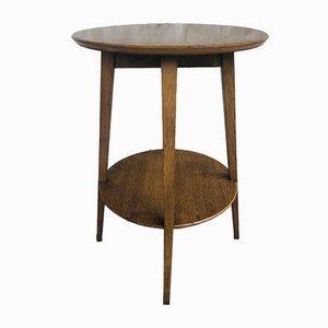 Mid-Century Scandinavian Side Table with Shelf, 1950s