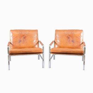 Armlehnstühle von Preben Fabricius & Jørgen Kastholm für Kill International, 1960er, 2er Set