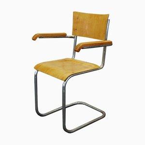 Sedia da scrivania Bauhaus di Robert Slezak, anni '40