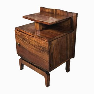 Art Deco Rosewood Veneer Side Table, 1930s