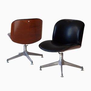 Italienische Schreibtischstühle von Ico Luisa Parisi für MIM, 1950er, 2er Set