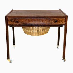 Dänischer Werktisch aus Palisander, 1960er