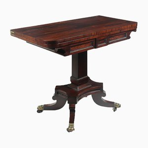 English Regency Rosewood Card Table, Circa 1810