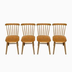 Vintage Ironica Esszimmerstühle von TON, 4er Set